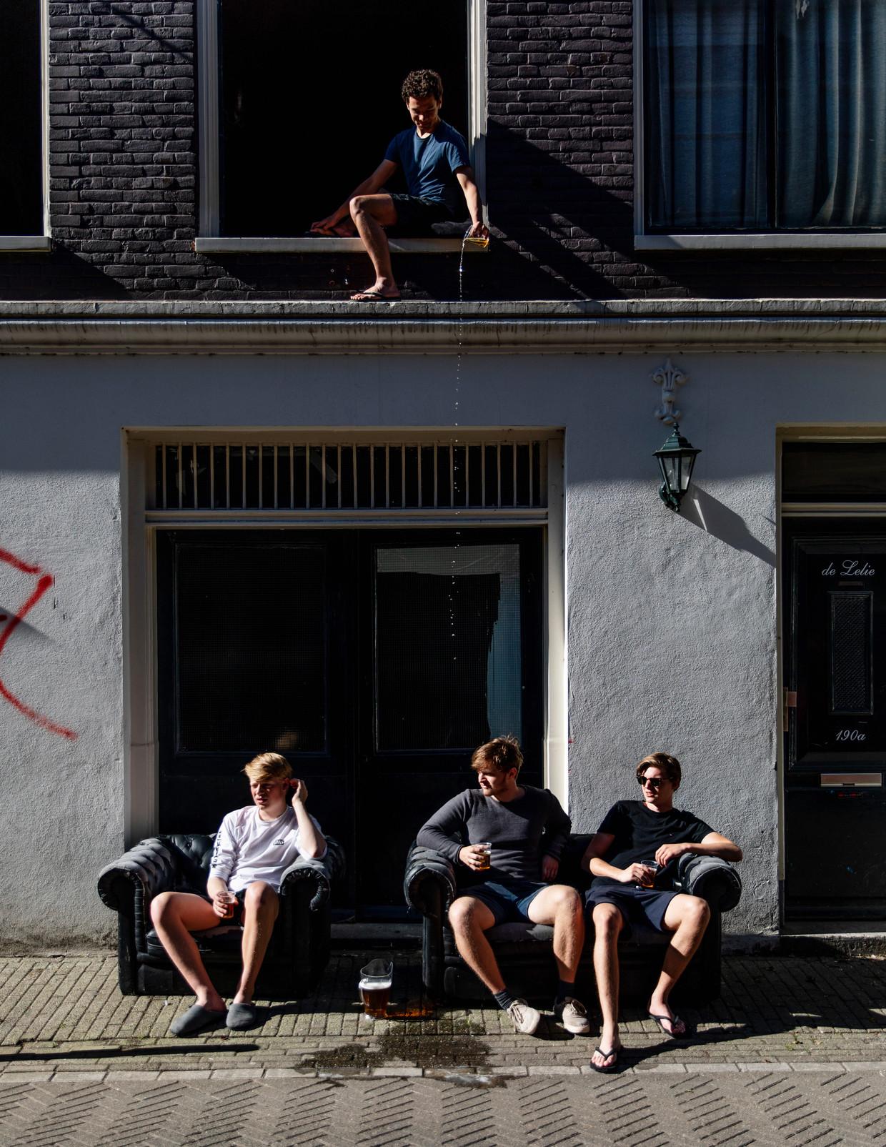 Joris, Maurits, Martijn en Alexander (in het raam).
