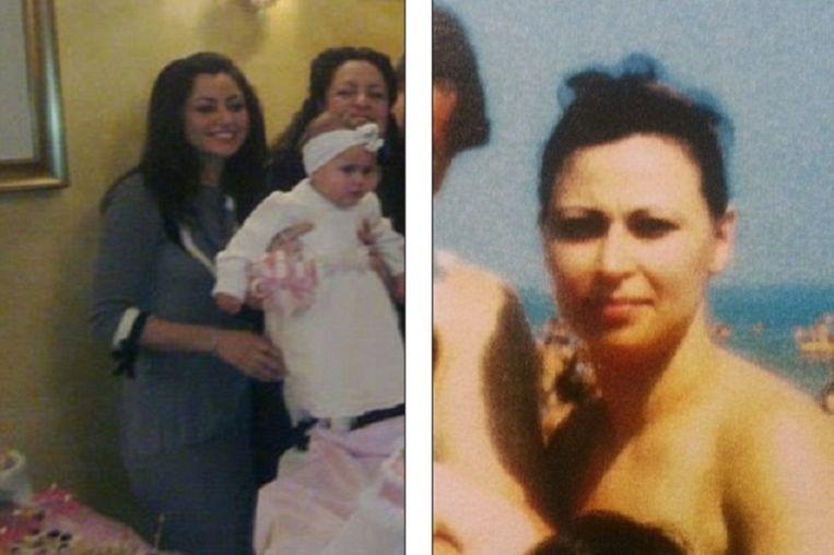 Antonella (l) naast haar biologische moeder Caterina.