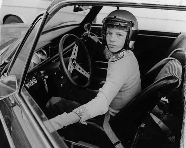 Jan Lammers als piepjonge coureur op het circuit van Zandvoort. Beeld