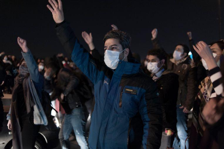 Betogers in Teheran