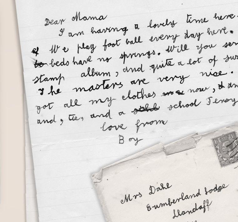 Brief van Roald Dahl aan zijn moeder Beeld rv