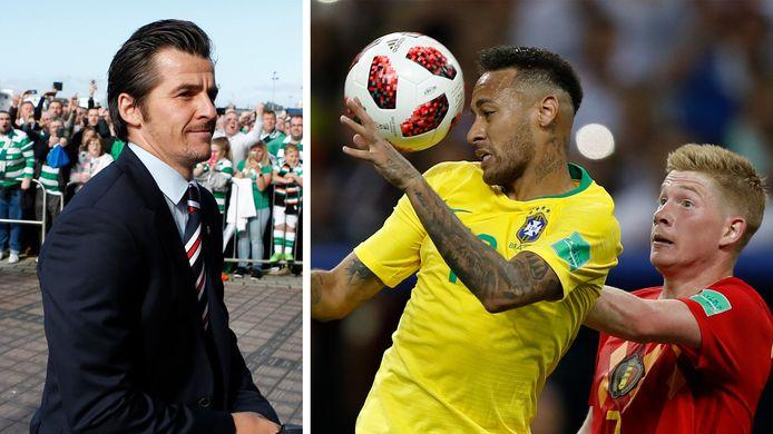 Joey Barton (à gauche), Neymar et Kevin De Bruyne (à droite)