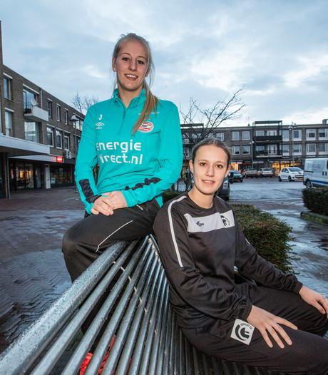 Maureen Sanders (PSV) en Jody Schellekens (Achilles'29) spelen bijzondere bekerwedstrijd