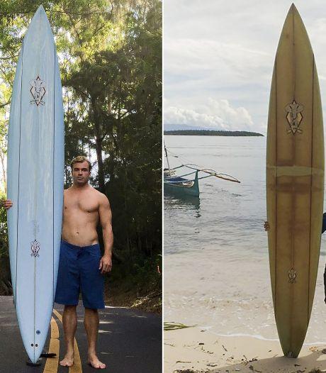 Perdue en mer, une planche de surf réapparaît deux ans plus tard et 8.000 km plus loin