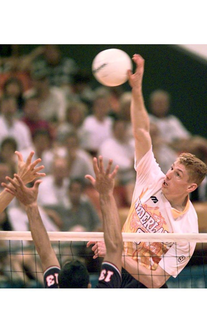 Bas van de Goor in actie tijdens de Olympische Spelen van 1996 in Atlanta.