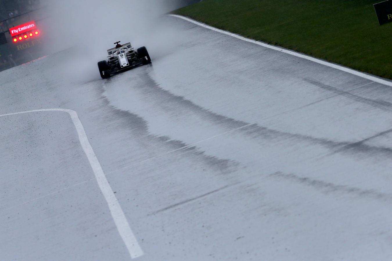 Marcus Ericson in actie tijdens de kwalificatie van de Grand Prix van Hongarije.