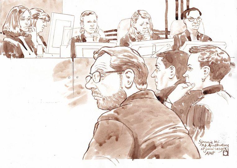 Rechtbanktekening van Sjonny W. Beeld ANP Graphics