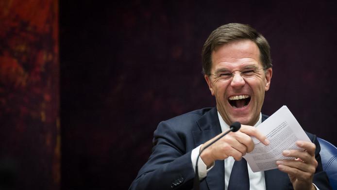 Archieffoto: Premier Mark Rutte dinsdag tijdens het debat over de aankomende Europese Top.