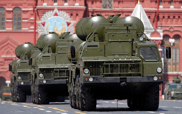 Het systeem S-400 tijdens een parade in Moskou