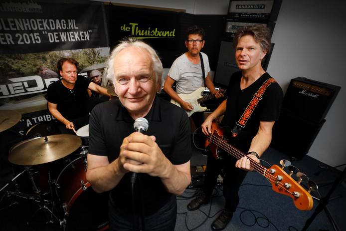 Robert Jacobs met zijn band.