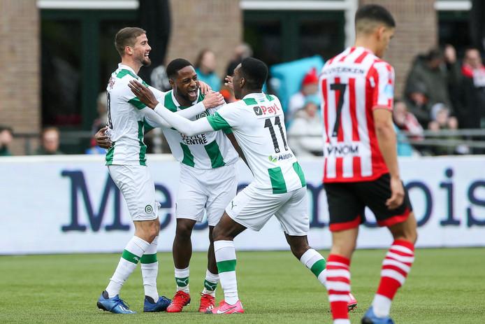 Vreugde bij Groningen na de 0-2.