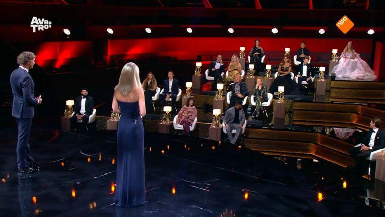 De zaal van Carré tijdens het Televizier-Ring Gala 2020.  Beeld NPO