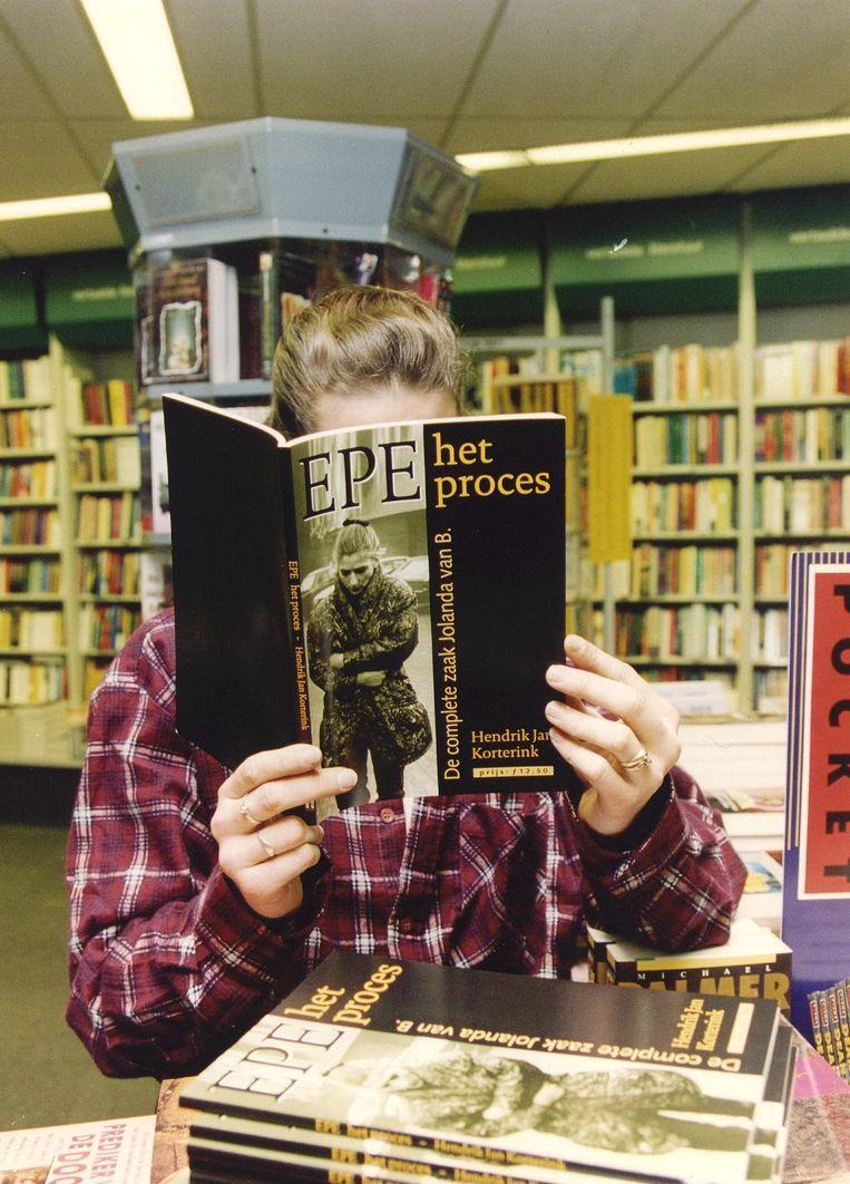Het boek 'Epe, het proces : de complete zaak Jolanda van B.', van Hendrik Jan Korterink. Beeld ANP