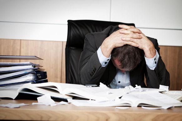 Stress op het werk.