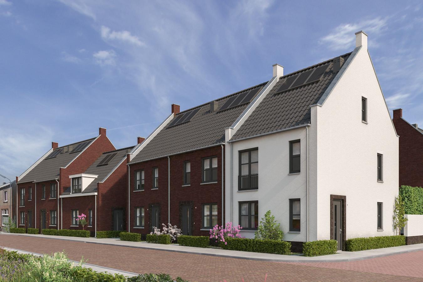 Een impressie van de nieuwe woonwijk Moers Midden II in Moergestel.