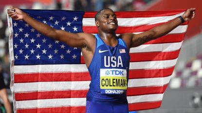Christian Coleman snoert alle critici de mond en spurt naar wereldtitel op 100m