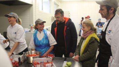Tom Waes en 10-jarige Griet Huygens bereiden in Technigo hun recordpoging voor