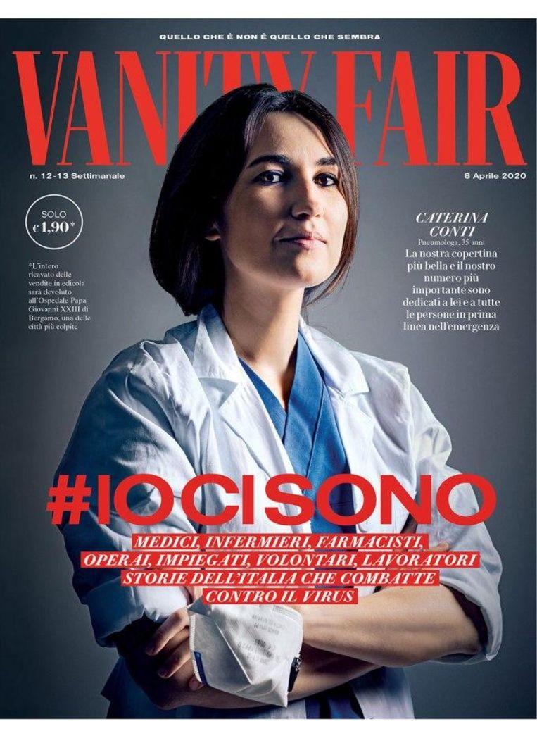 De cover met longarts Catarina Conti. Beeld Vanity Fair
