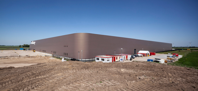 Bouw van een nieuw distributiecentrum in Zwolle. Beeld null