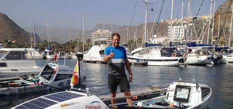 Mark Slats ligt roeiend ruim voor op het schema van het wereldrecord
