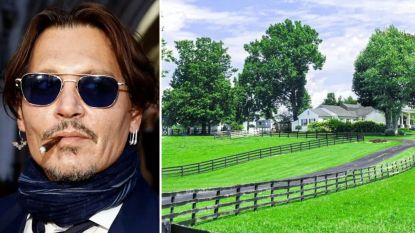 BINNENKIJKEN. Johnny Depp verkoopt paardenranch van 1,2 miljoen