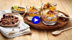 Hét ontbijt van de Instagram health queens met mango en chiazaad maak je makkelijk zelf