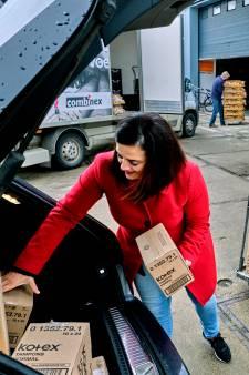 Olga zamelt tienduizenden maandverbanden en tampons in voor arme vrouwen: 'Meer is welkom!'