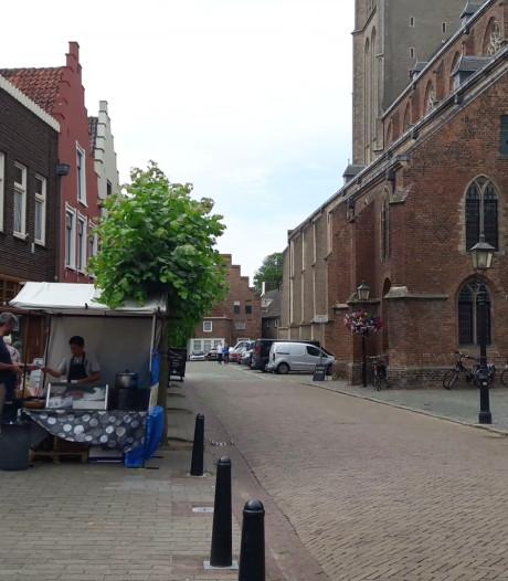 Maar één kraam op de Doesburgse 'zaterdagmarkt'