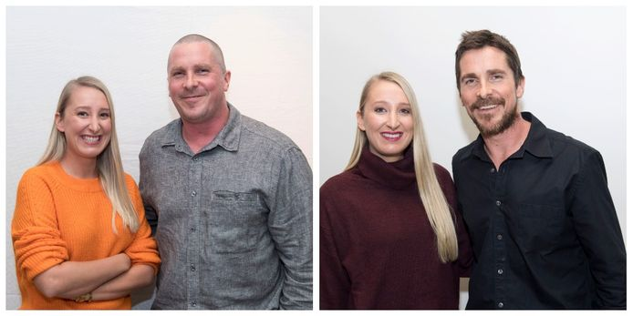 Hollywoodvrouw Kristien ging vorig jaar op de foto met Christian en dit jaar. De transformatie van de acteur is immens.