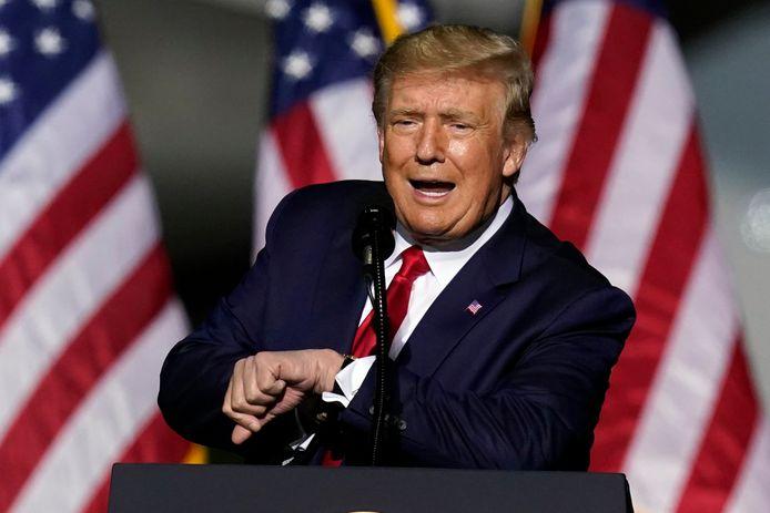Donald Trump en meeting à Newport News, en Virginie, le 25 septembre 2020.