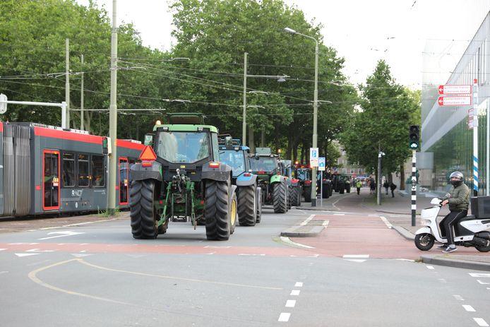 De eerste trekkers zijn op weg naar het Binnenhof in Den Haag.