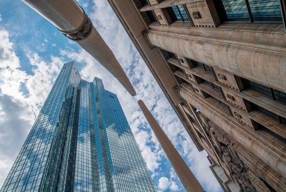 Het hoofdkwartier van Deutsche Bank in Frankfurt.