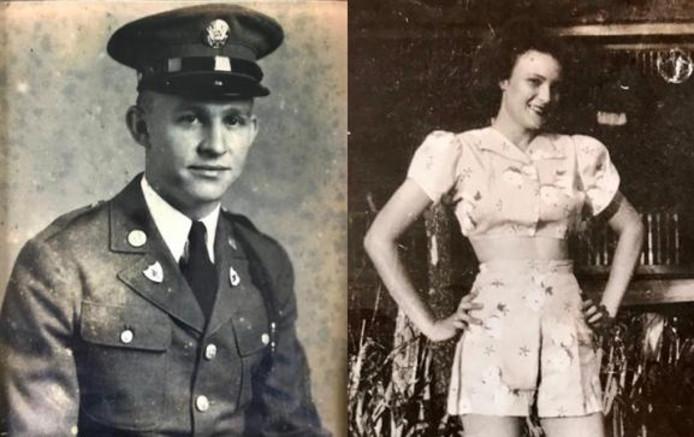 Robbins en Jeannine in hun jonge tijd.