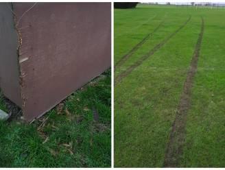 """Vandalisme op voetbalterrein Sint-Margriete: """"Met een auto op het veld gereden"""""""