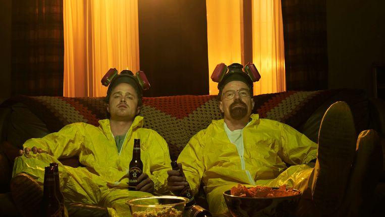 De twee hoofdpersonen uit Breaking Bad: Walter White (R) en Jesse Pinkman. Beeld reuters
