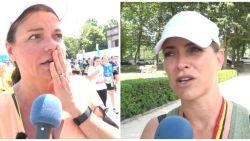 """Goedele Liekens droogt Karen Damen af op 20 km van Brussel: """"Oh my god, die gaat echt kwaad zijn"""""""