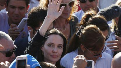 Angelina Jolie bezoekt vluchtelingenkamp in Turkije