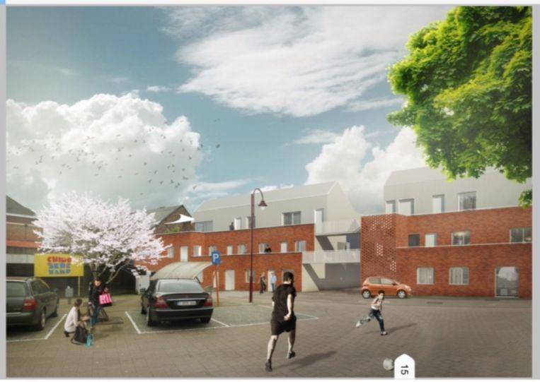 Op het Ankerplein komen 21 sociale woningen in plaats van 14.