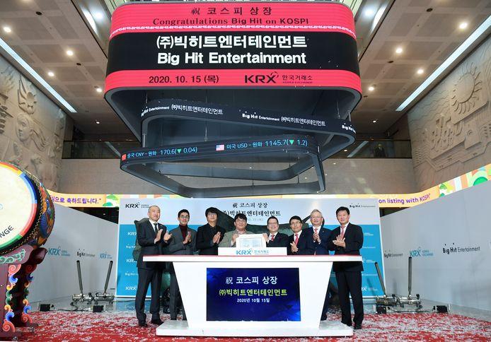 Big Hit Entertainment op de beurs.