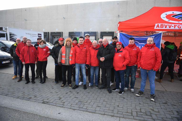 Het ABVV nam ook deel aan de actie.