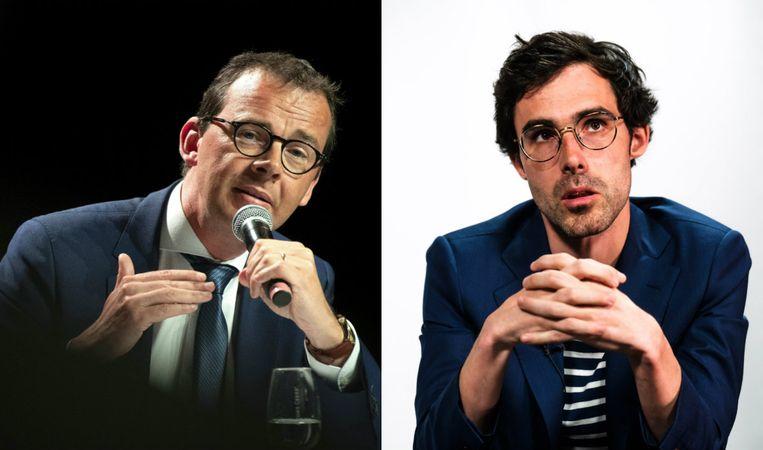 Wouter Beke en Kristof Calvo