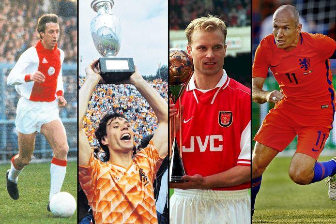 Johan Cruijff, Marco van Basten, Dennis Bergkamp en Arjen Robben zijn ook genomineerd.