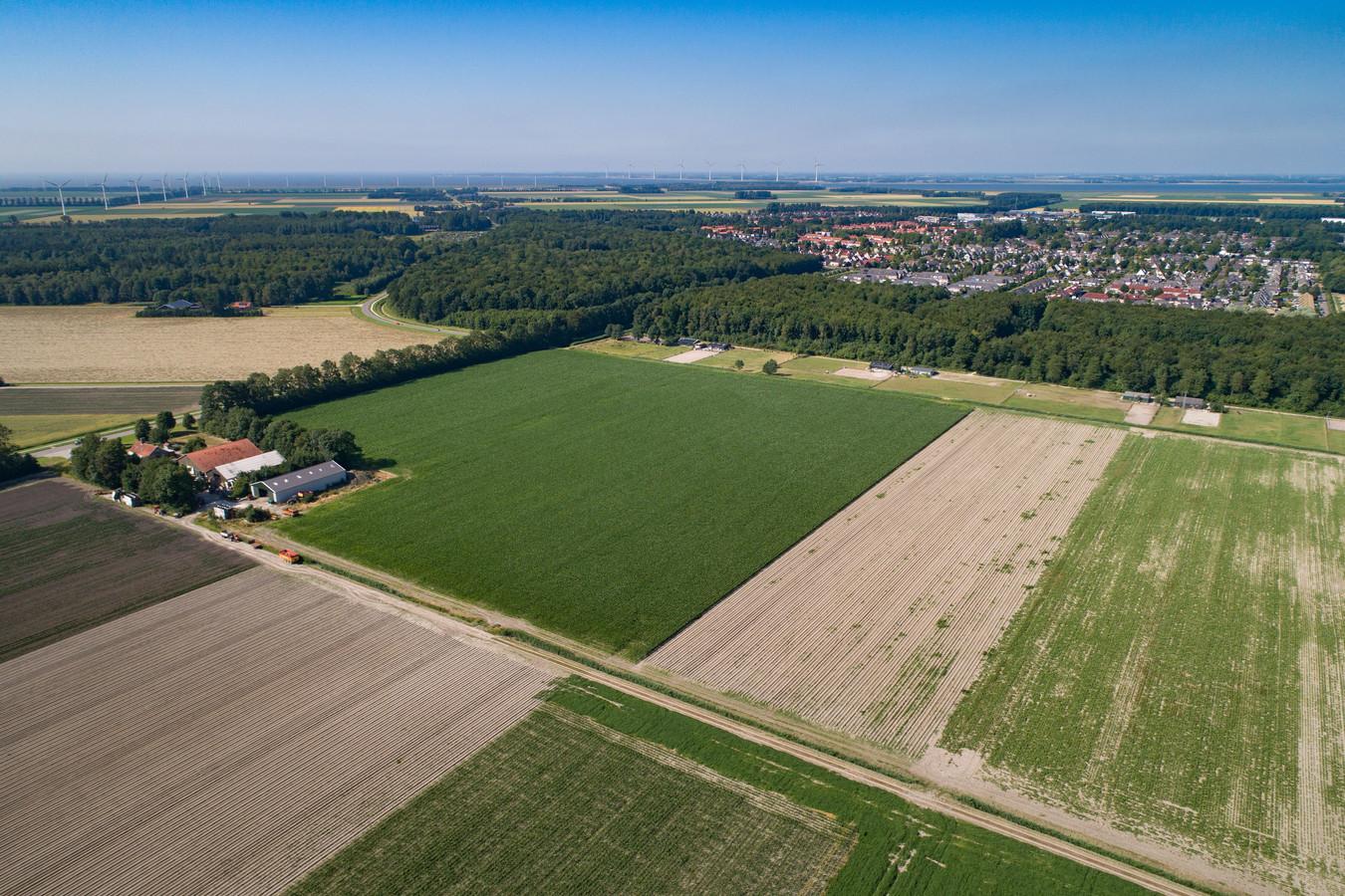Het gebied ten zuiden van Swifterbant waar het dorp eindelijk gaat uitbreiden.