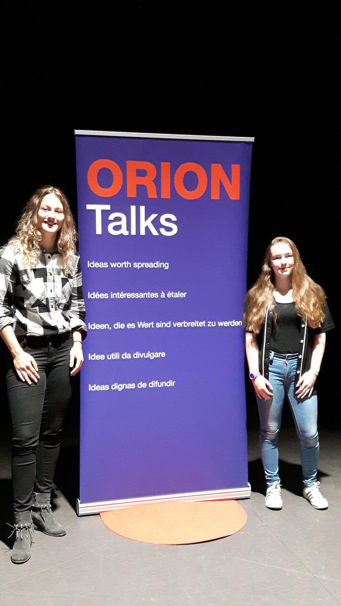 Femke Hansen Wilhelm en Suzanna van der Louw op het Orion Lyceum