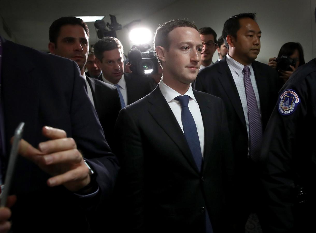 Mark Zuckerberg op archiefbeeld