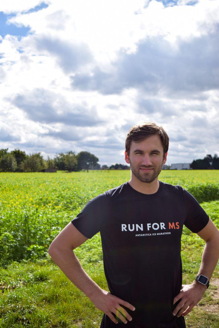 Gertjan Verdickt bereidt zich voor om volgend jaar een marathon te lopen in Antarctica om de slepende ziekte MS onder de aandacht te brengen.