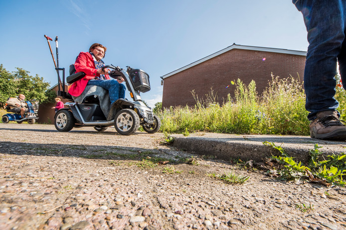 Wethouder Jan - Herman Scholten krijgt rondleiding slechte staat trottoirs