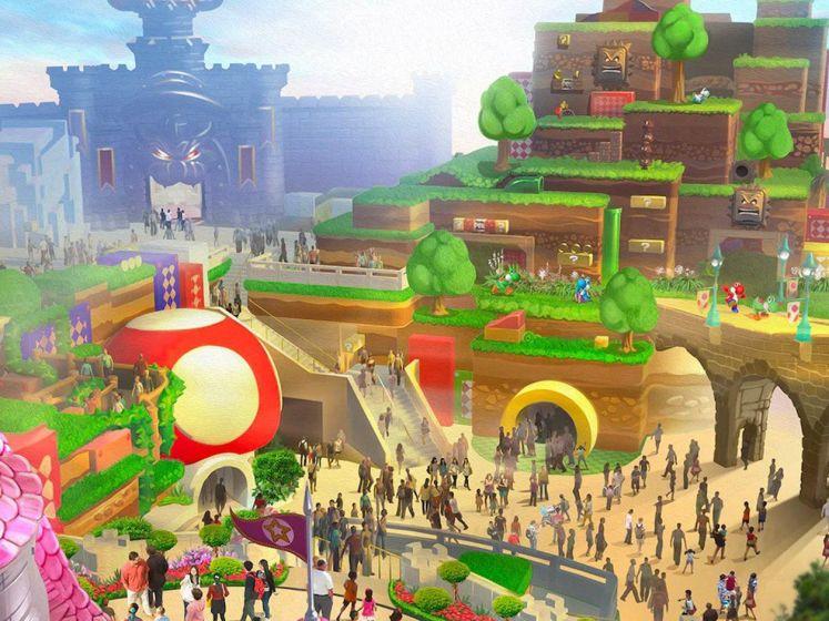 Les premières images du parc d'attractions Nintendo dédié à Mario