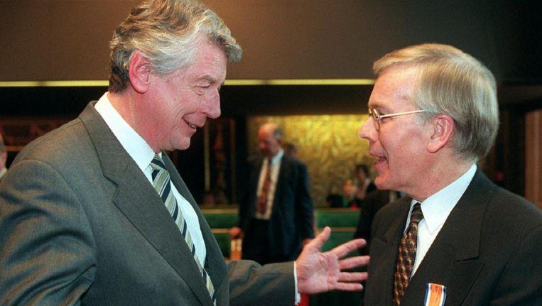 Ministers van Staat Kok en Tjeenk Willink in 1997 Beeld anp