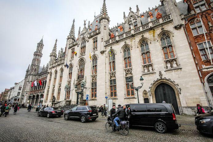 Het Provinciaal Hof op de Markt in Brugge.